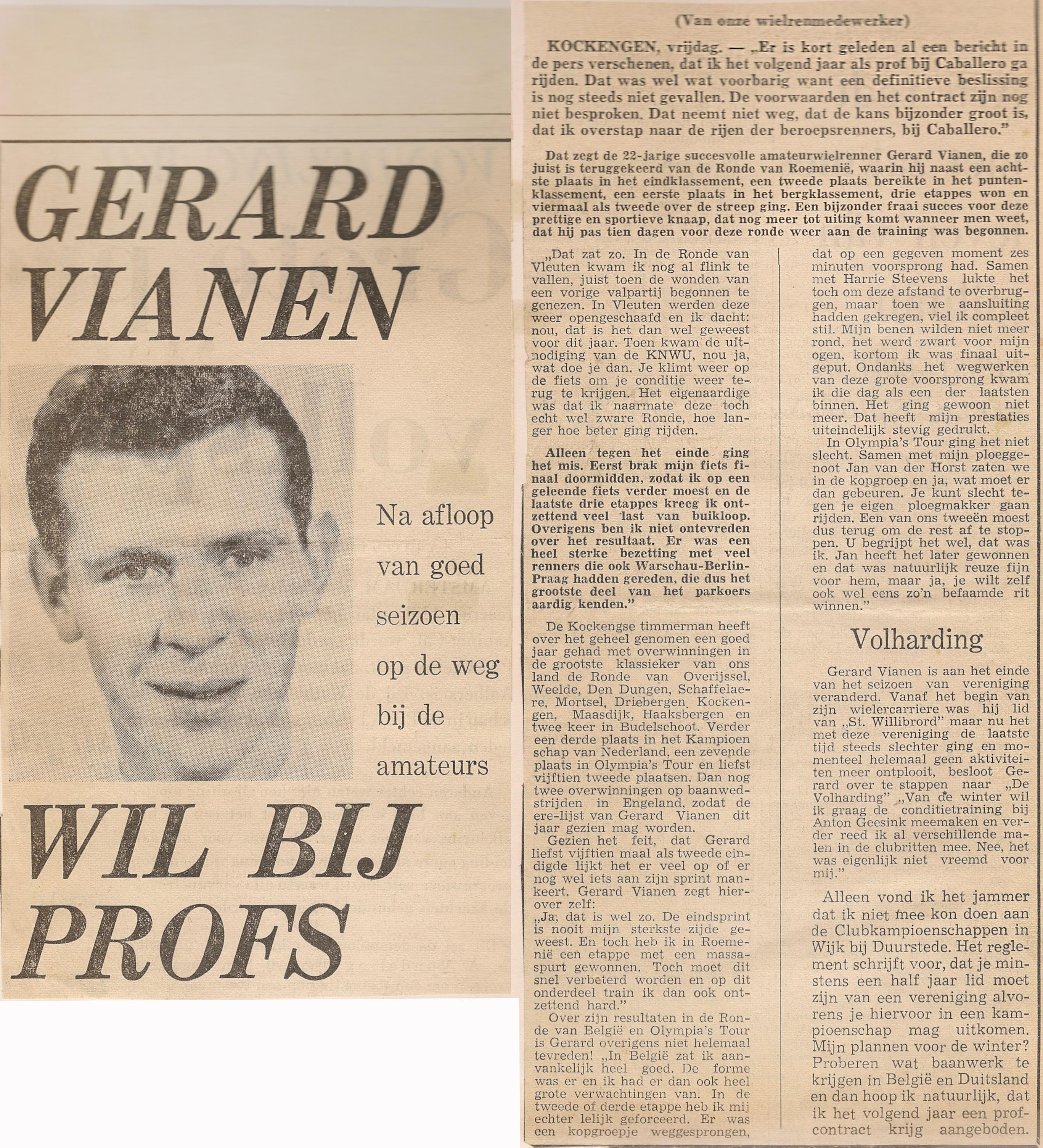 GV_ Gerard Vianen wil bij Profs